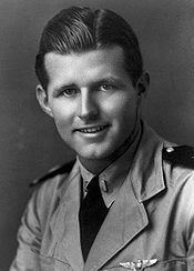 "In 1944 on this fateful day Colonel Elliott Roosevelt was killed and Lieutenant Joseph Patrick ""Joe"" Kennedy, Jr. critically injured during the course of an experimental attack in which unmanned, explosive-laden bombers were deliberately crashed into enemy targets under radio control."