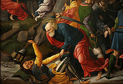 In AD 33 that agent of the random Simon Peter withdrew his sword and with holy fury attacked the Temple Guards that had arrested his Master in the Garden of Gethsemane.