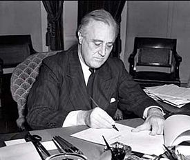In 1941 five months after President Franklin D. Roosevelt signed the Lend-Lease bill into law (pictured), Operation Schraubenschlüssel was dismantled and US aid to Britain and China finally began in earnest.
