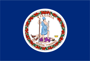 Flag of - State of Virginia