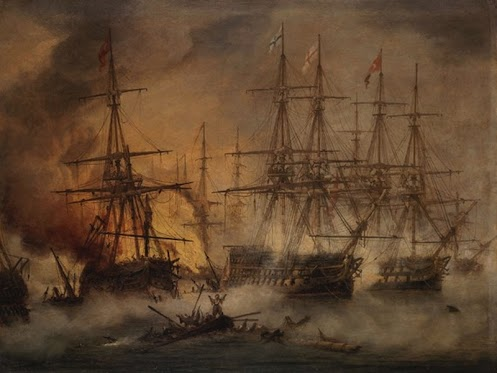 In 1827 on this day a combined Turkish and Egyptian armada won a decisive victory at the naval Battle of Navarino.
