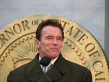 "In 2003 on this first of day of his candidacy for Governor of California Arnold Schwarzenegger received a searing barrage of abuse from a long-term critic, the real Conan the Barbarian. The previous night Schwarzenegger had appeared on the The Tonight Show with Jay Leno.Arnie announced that he was adding his name to the crowded field of candidates in the recall election precipiated by Governor Gray Davis handling of the Californian budget crisis. The following morning during the work-out feaure of Breakfast with America Conan dubbed him the ""Governator"" and ""The Running Man"" ridiculing the recall election as ""Total Recall""."