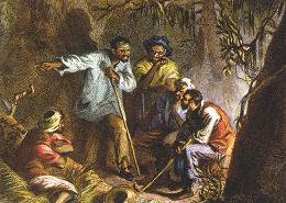 In 1831 on this day at midnight Nat Turner and his trusted followers arose and marched out of their quarters. They went from plantation to plantation further, freeing other slaves as they went.