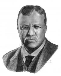 "In 1912 while campaigning for the presidency in Milwaukee, Wisconsin, former President Theodore ""Teddy"" Roosevelt is shot at by a crank who said that ""any man looking for a third term ought to be shot""."