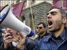 Protestors - in Georgia