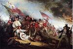 In 1776 the Battle of Breeds Hill, also called the Battle of Bunker Hill, took place, pitting American colonial rebels against British troops commanded by Sir William Howe, Sir Henry Clinton, and John Burgoyne.<font color=red size=-2>Watch the Youtube Clip of the Battle of Bunker Hill</font> <a target=_blank href=http://www.youtube.com/watch?v=E1o7BJ0Piu0><img src=http://i.l.cnn.net/cnn/.element/img/2.0/global/icons/video_icon.gif border=0></a>