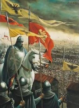 In 1453 on this day the Ottoman Sultan Mehmet II began the two-month, unsuccessful siege of Constantinople.