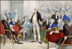 In 1787 representatives of the thirteen original states met in Philadelphia to draft the first articles of what would eventually become the United States Constitution.