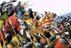 In 1415 on St Crispins Day the numerically superior forces of King Charles VI of France crushed the army of King Henry V of England at the decisive Battle of Agincourt which ended the dynastic struggle between the Royal Houses of Valois and Plantagenet.