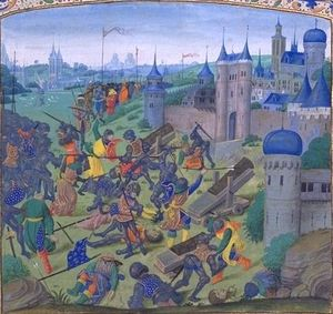 In 1396 on this day the Danubian fortress of Nicopolis fell to an allied army of Hungarian, Wallachian, French, Burgundian, German and assorted troops (assisted by the Venetian navy).