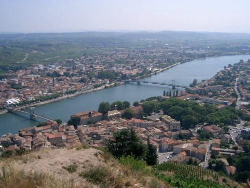 The Rhone - The Rhone near Ardech