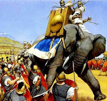 In 202 BC on this day the Carthaginian General Hannibal Barca unleashed an unstoppable charge of eighty elephants that forced a Roman army commanded by Publius Cornelius Scipio Africanus to flee the battlefield in terror and confusion.